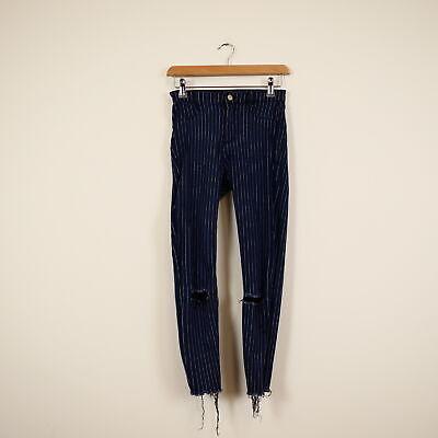 Zara Pin Striped Skinny Jeans Size 10