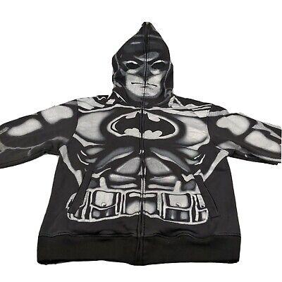 Batman Hoodie Mask (Six Flags Superman Batman Hoodie Mask Jacket Mens Size XL Full)