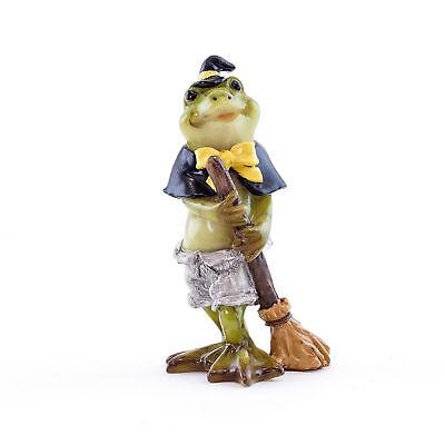 Halloween Fee Garten Miniatur - Halloween Frosch in Hexe Kostüm - (Garten Hexe Kostüm)