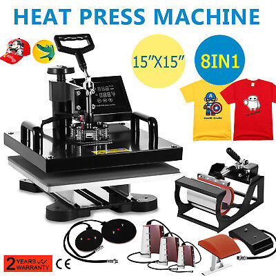 Купить 8 in 1 Heat Press Machine For T-Shirts 15