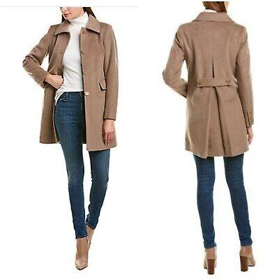 Tahari Women Sophie A line Wool Blend Beige Coat Size XL New