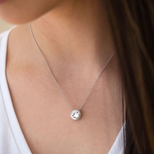 Touchstone Crystal Melrose Slide Necklace Item 3718NF No head will remain unturn