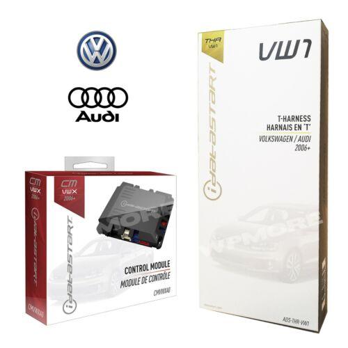 iDatastart CMVWXA0 Remote Start 3X LOCK Start + ADS-THR-VW1 for AUDI VW 2006 UP