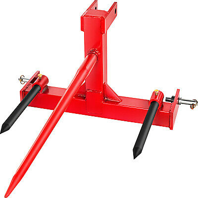 Vevor Attachments Red Category 1 Tractor 3 Point Attachment W 39-in Hay Spear