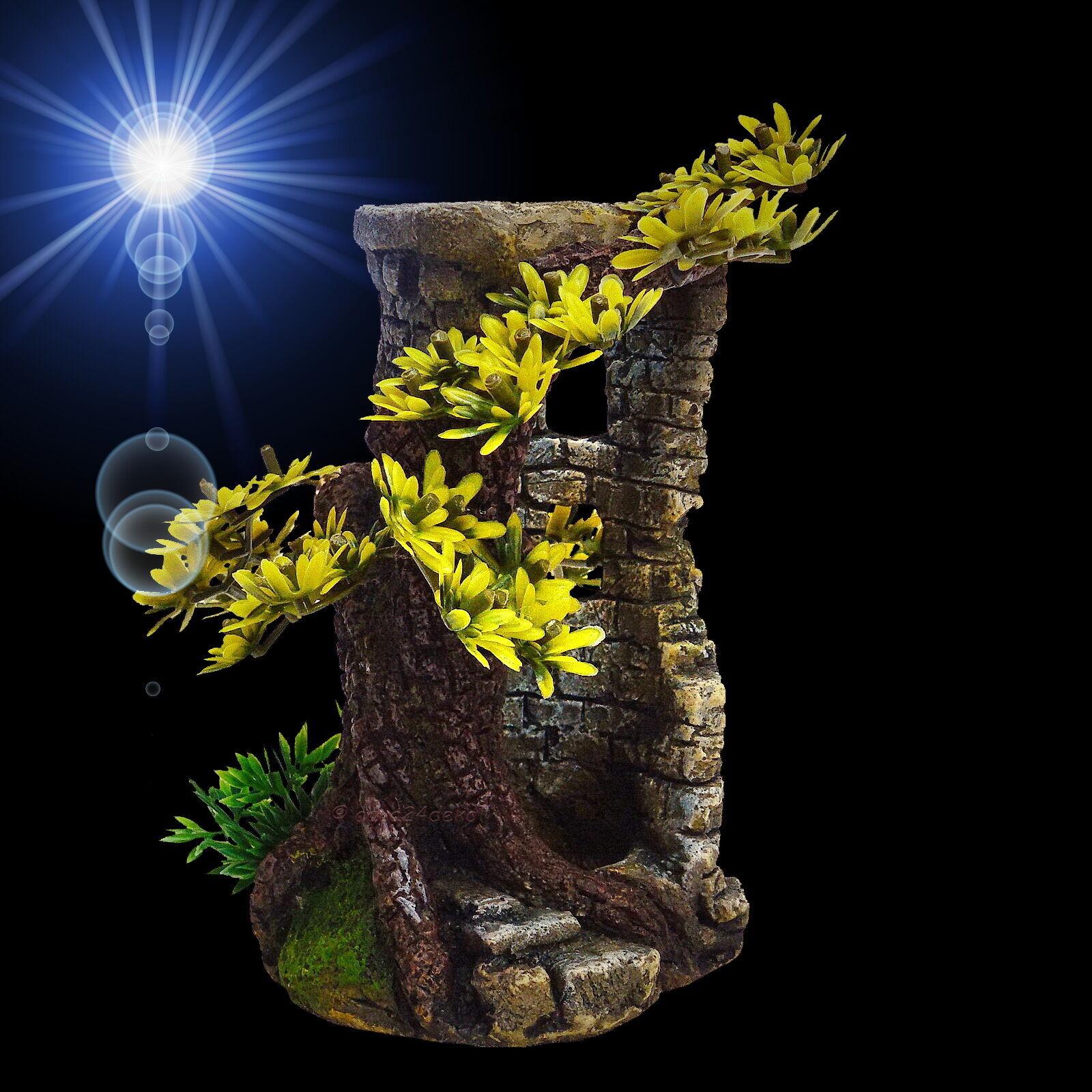 aquarium deko turm ruine h hle burg terrarium dekoration zubeh r eur 12 99 picclick de. Black Bedroom Furniture Sets. Home Design Ideas