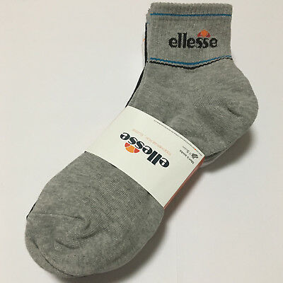 ELLESSE Men's Sport Casual Quarter Socks 5Pairs White Gray Black Cotton KOREA