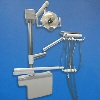 Dci Dental Side Box Delivery Unit With Assistants Arm Midmark Light