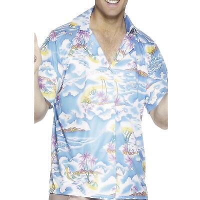 Mens Blue Hawaiian Shirt Classic Hopper 80s Private Investigator Detective Chief
