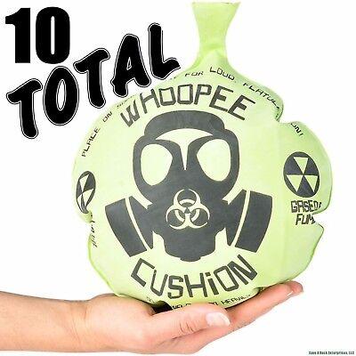 "(10)  MONDO 10"" WHOOPEE CUSHION Giant Jumbo Whoopie Maker Gas Joke Fart Noise"
