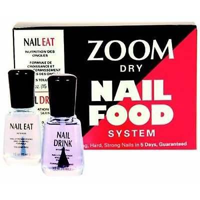 Nail Food System (Zoom Dry Nail Food System - Nail Eat & Nail Drink (x2 15ml))