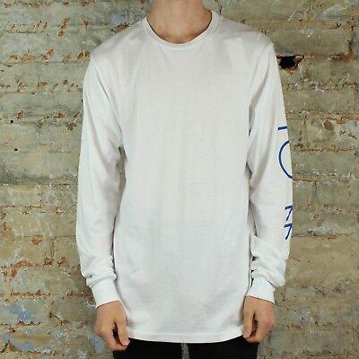 Polar Script Logo Long Sleeve T-Shirt Tee in White size S,M,L