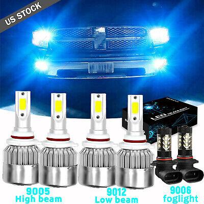 For Dodge RAM 1500 2500 3500 2013 2014 2015 LED Headlight Fog Light Bulbs 8000k