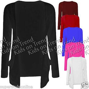 GIRLS-Cardigan-BOYFRIEND-STYLE-Open-Cardigan-KIDS-Long-Sleeve-NEW