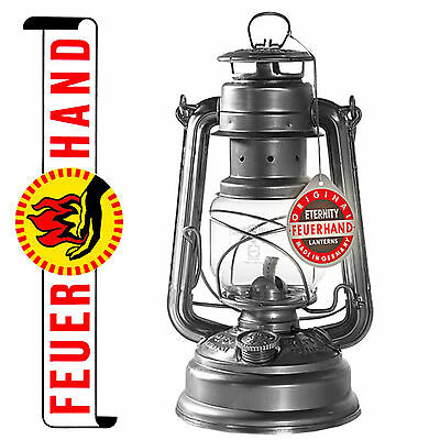 FEUERHAND® NIER hurricane lantern 276 galvanized, original one from Germany