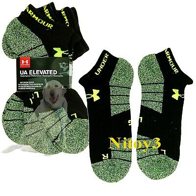 Under Armour Elavated HeatGear® Performance Low-Cut Socks 3-Pack Men Large  (P4)