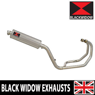 KAWASAKI KLE 500 KLE500 EXHAUST SYSTEM STAINLESS STEEL OVAL SILENCER 400SS