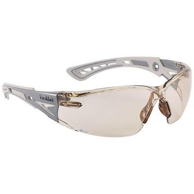 Bolle Rush Safety Glasses With Clear Csp Anti-fog Lens Whitegrey Temples