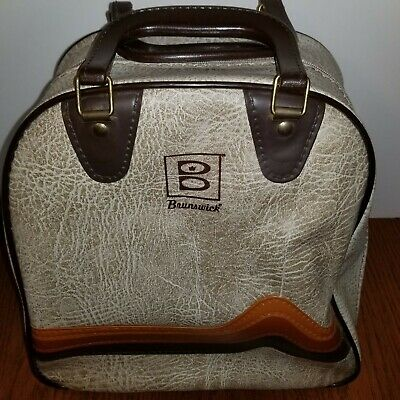 Vintage Brunswick One Ball Bowling Bag. Retro Rockabilly