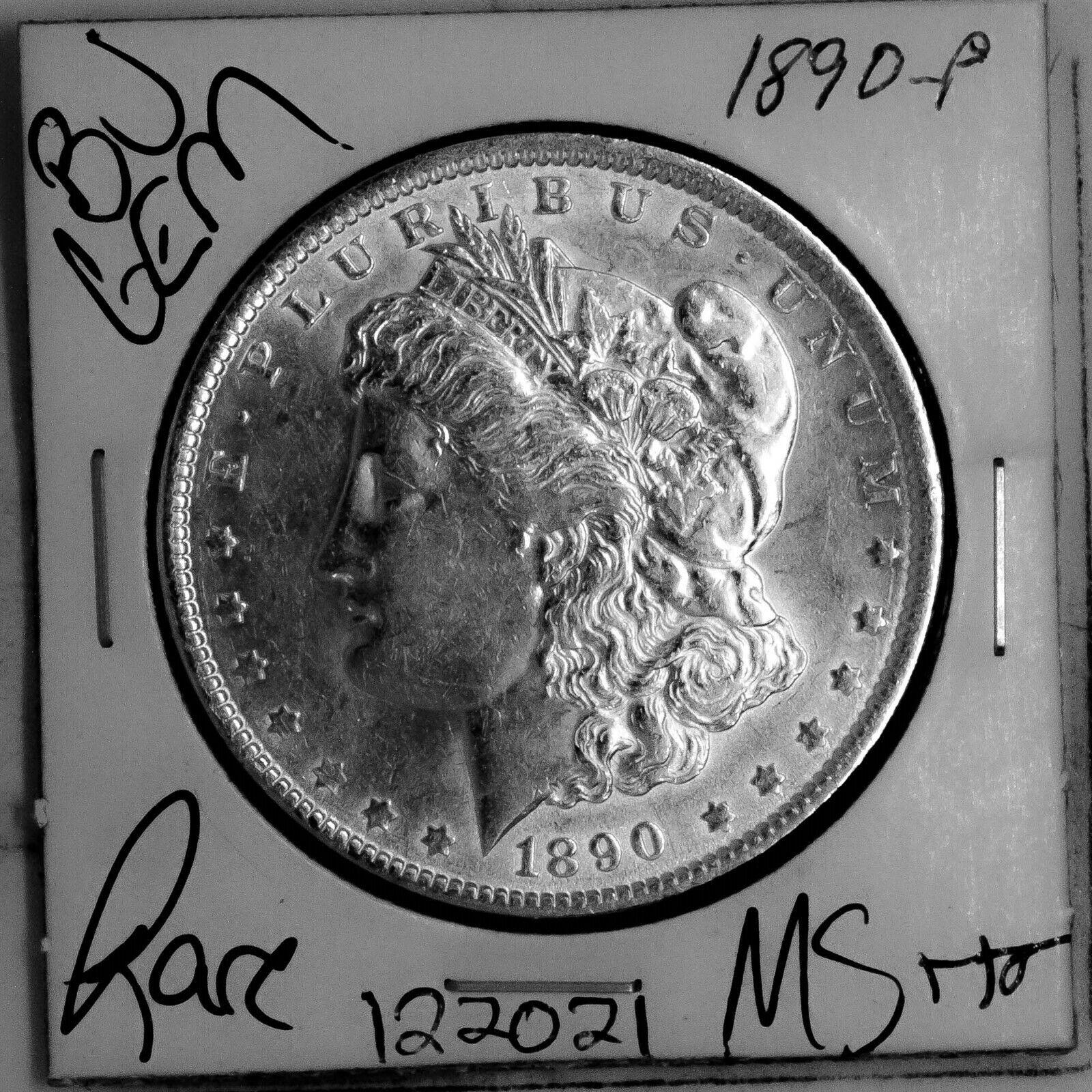 1890 GEM Morgan Silver Dollar BU MS UNC Coin Free Shipping 122021 - $56.00