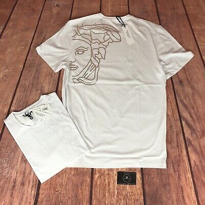 Versace Collection Rear Medusa Logo T-Shirt White - £125
