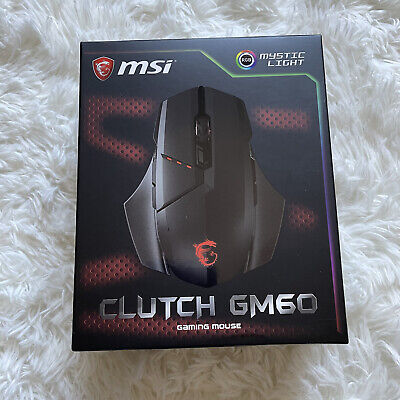 MSI Clutch GM60 USB Wired RGB DPI Programmable Optical Gaming Mouse