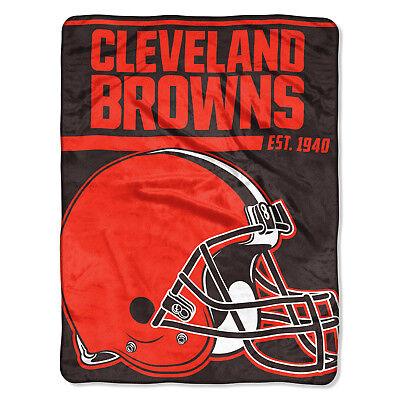 NFL große Decke Cleveland Browns Silk Throw Blanket 40 Yard Dash