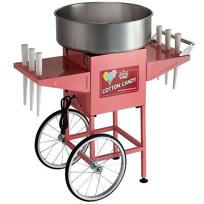 Commercial Cotton Candy Machine W 21 Stainless Steel Cart - 110v 1050w