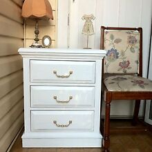 Beautiful Shabby Chic French White Bedside Display Table Bexley Rockdale Area Preview