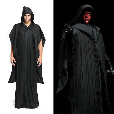 Star Wars Sith Darth Maul Robe mit Kapuze Cosplay Kostüm Karneval (Sith Robe Mit Kapuze Kostüm)