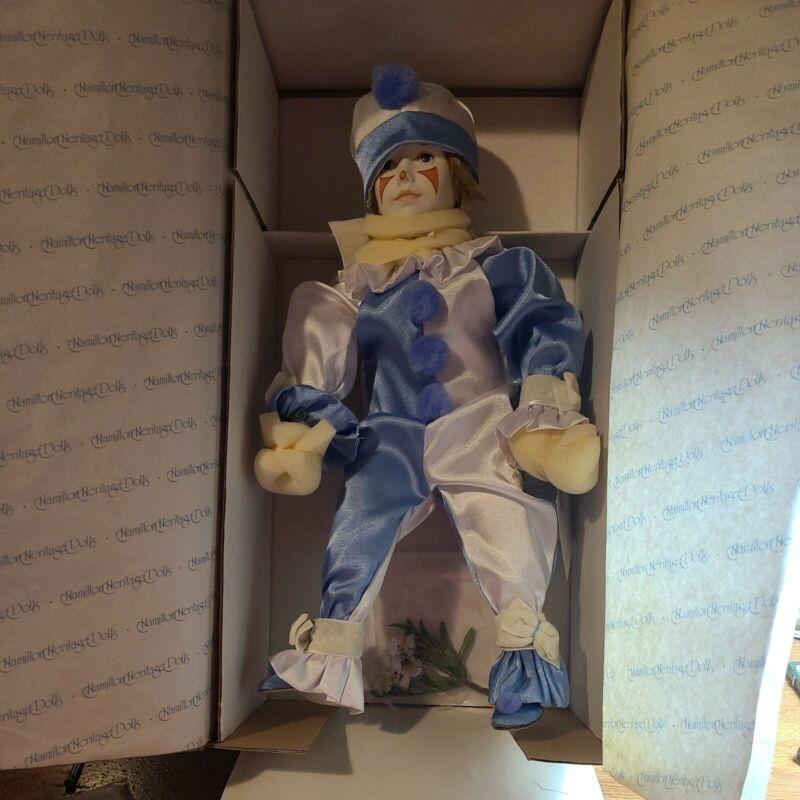 """Cybis Porcelain Boy Clown Doll  """"A Gift of Innocence"""" NIB"""