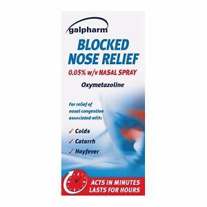 Galpharm Blocked Nose Relief Nasal Spray 15ml | **FREE POST**