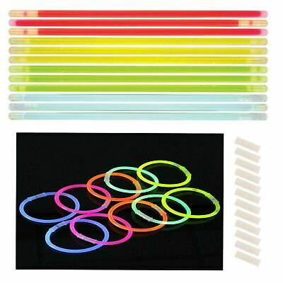 Glow Sticks Bracelets Necklaces Party Favors Neon Colour Stick and Connectors 8