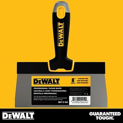 Dewalt Taping Knife 8 Stainless Steel Drywall Taping Tool Lifetime Warranty