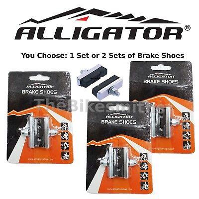1 or 2-Pack Alligator Brake Pads Shoes 40mm Front Rear Bike Side Center Pull 2 Bicycle Brake Shoes