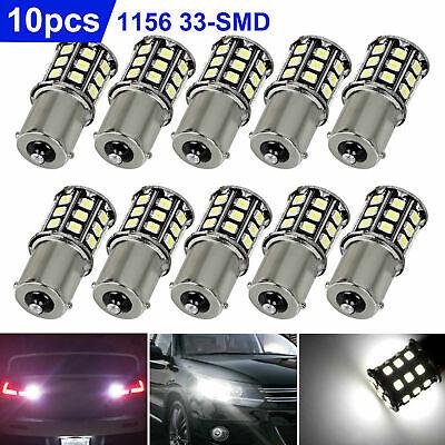 10pcs Super Bright White 1156 RV Trailer 33-SMD LED 1141 Interior Light Bulbs US