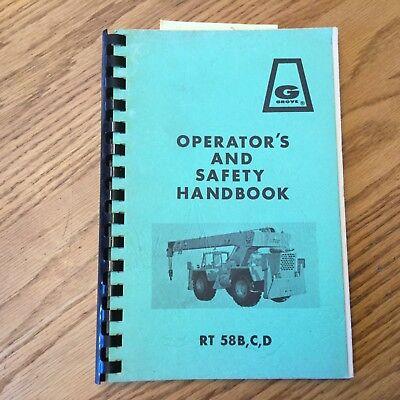 Grove Rt58bcd Operators Manual Rough Terrain Crane Operation Maintenance Guide
