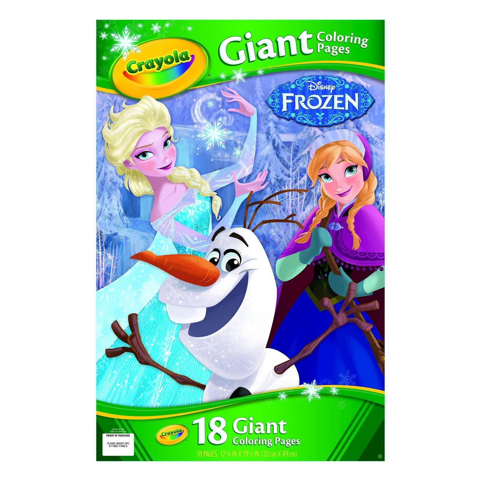 Crayola Disney Frozen Giant Coloring Pages Model 19438397