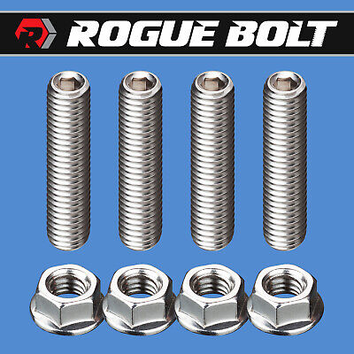 CARB STUD KIT BOLTS STAINLESS STEEL HOLLEY EDELBROCK CARBURETOR SBC BBC FORD SBF