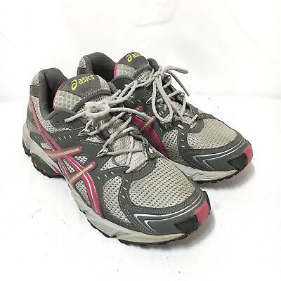 ASICS Gel-Trail Sensor 3 Women's 7 Gray Pink Lace Up Athletic Running (Gel Trail Sensor)