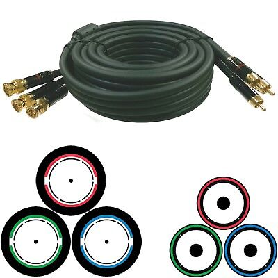 BNC RCA Cable Component RGB Video 12' Red Green Blue Sonic Wave #29773 sn 83154 Bnc Component Video Cable