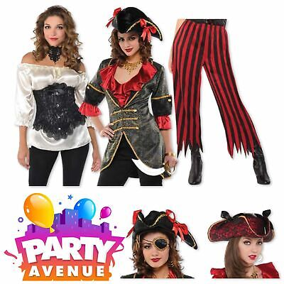 Pirate Accessories For Women (Ladies Pirate Wench Accessories Fancy Dress Costume)