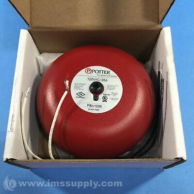 Potter Electric Pba-1206 Vibrating Ac Powered Bell Pba Series 0317