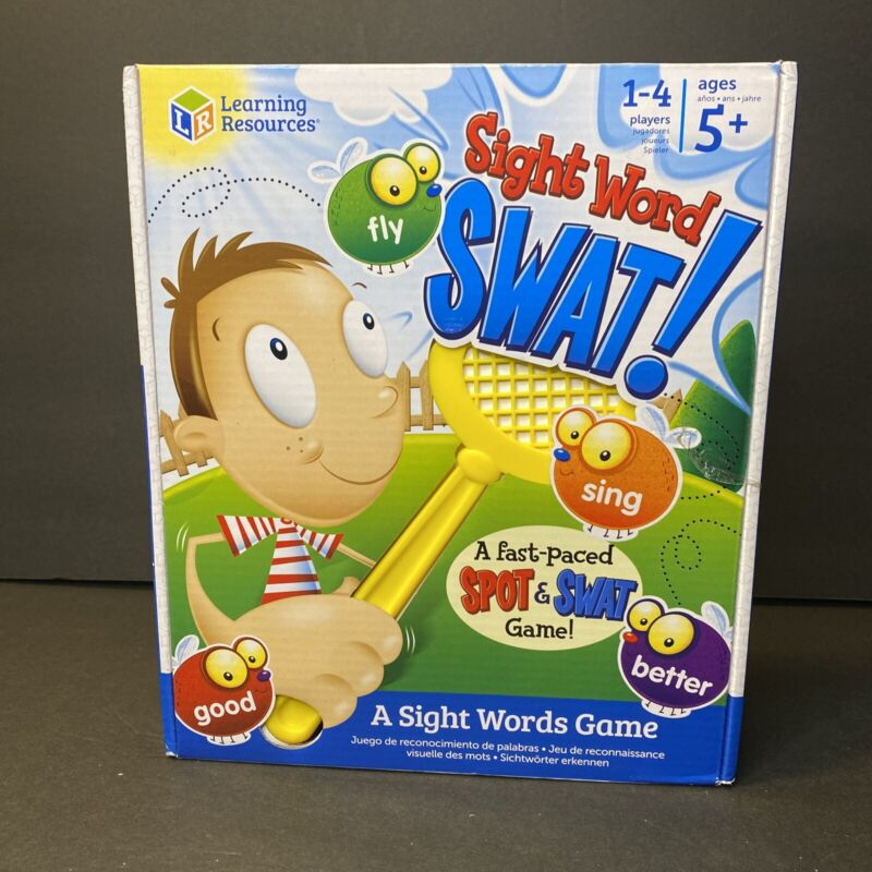 Learning Resources Sight Word Swat a Sight Word Game, Home School, Visual New