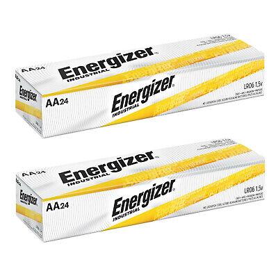 48 Energizer Industrial AA Alkaline Batteries EN91 LR6 1.5V