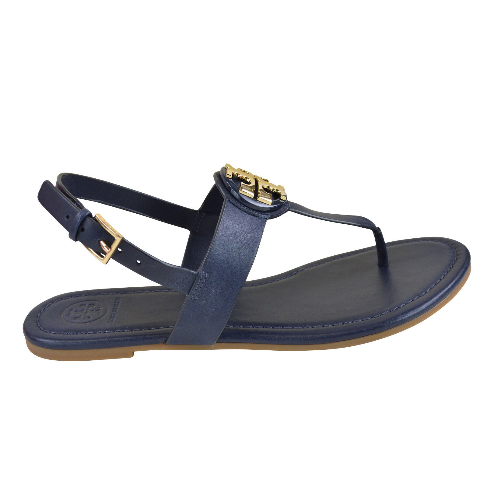 f9a6afbb4ec118 A gleaming logo medallion takes center stage on a beautifully smooth thong  sandal fitted with a slim slingback strap. - Leather upper and  lining rubber sole
