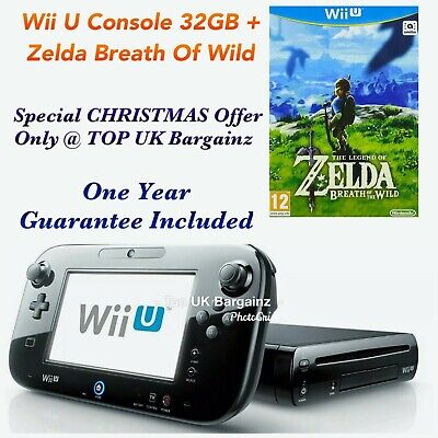 Nintendo Wii U Black Console 32 GB + The Legend of Zelda: Breath of the Wild