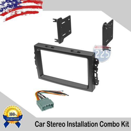 Car Stereo Radio Dash Installation Kit w/ Harness Dodge Jeep Chrysler 2004-2008
