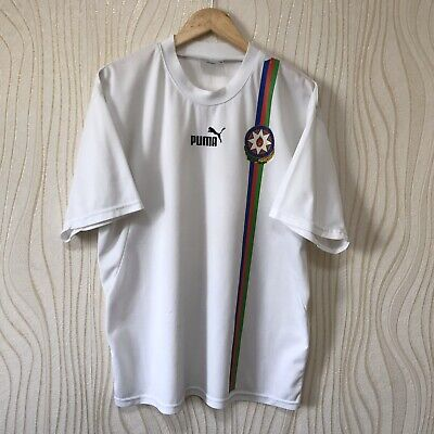 AZERBAIJAN 2004 2005 HOME FOOTBALL SHIRT SOCCER JERSEY PUMA WHITE image