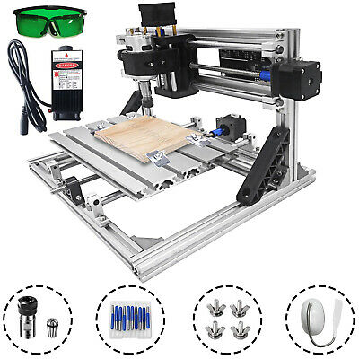 3 Axis Cnc Router Kit 2418 2500mw Grbl Engraving Injection Molding Material