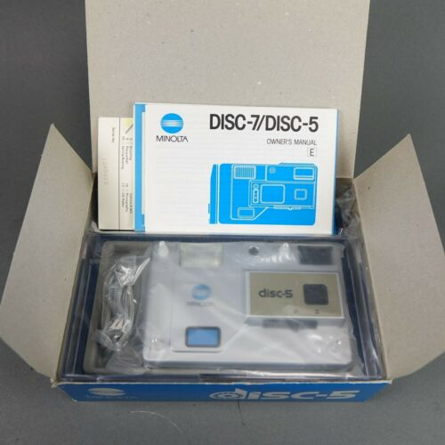 Minolta Disc 5 Disc Film Camera - NEW IN BOX! - Collector Quality
